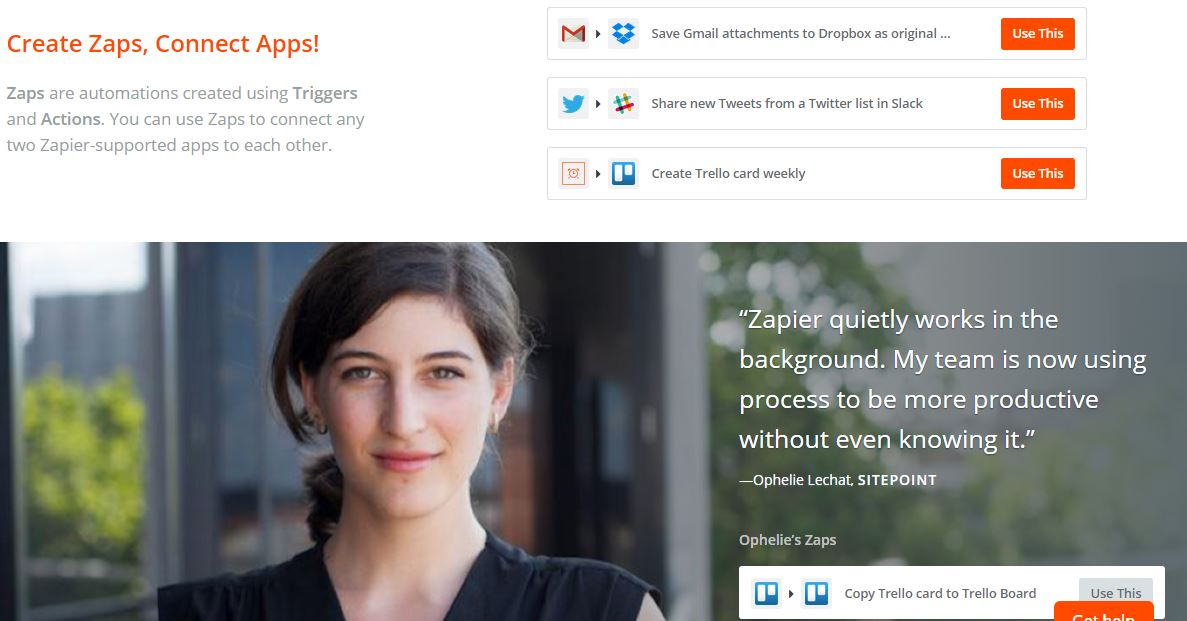 Zillionize Invests in Zapier – A Platform to Connect Web-Apps to Automate Your Tasks