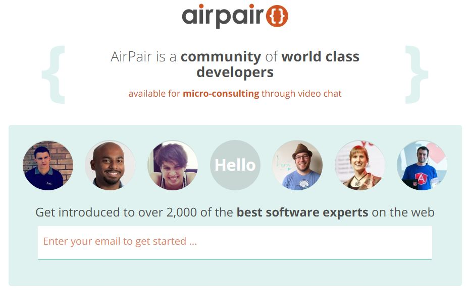 AirPair - Micro Consulting and Software Help From Tech Geeks Using Video and Screen Sharing
