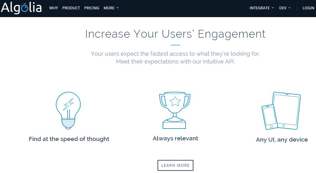 Algolia – A Hosted Search API for Websites and Mobile Apps To Boost User Engagements And Conversions