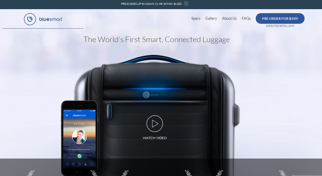 Bluesmart – World's First Smart and Connected Luggage