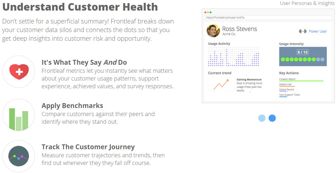 FrontLeaf - A SaaS Based Customer Success Management and Analytics Solution for B2B Companies