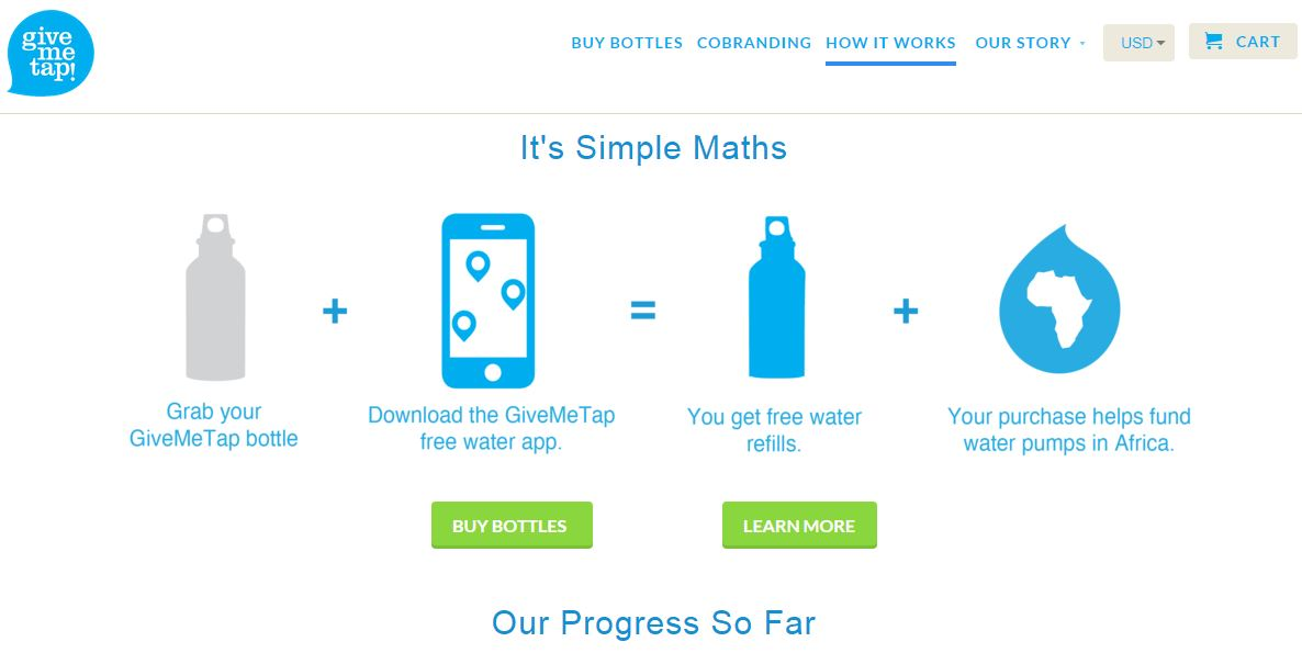 GiveMeTap – Buy Drinking Bottle And Fund Clean Drinking Water In Africa