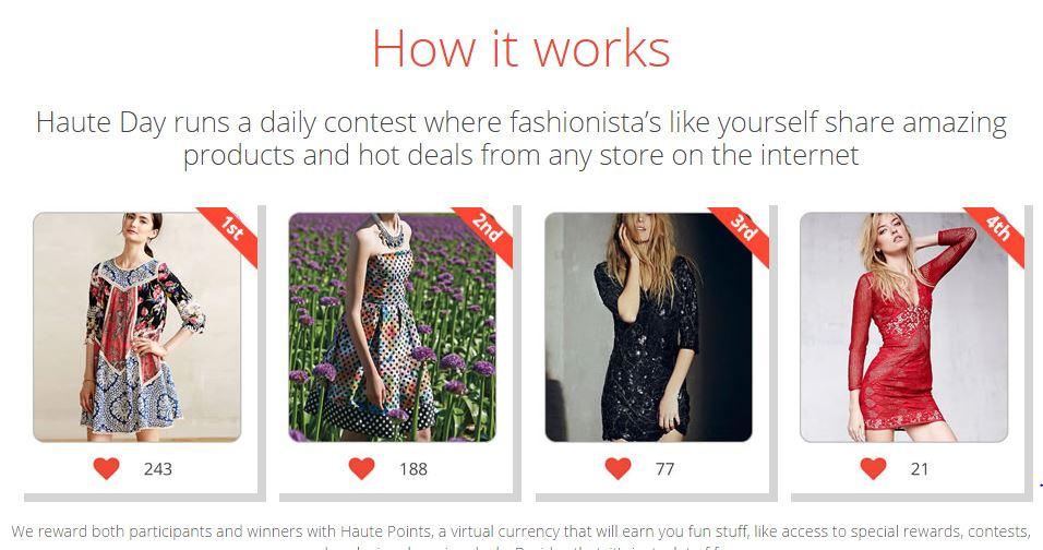 HauteDay – Shopping Through Fashion Contest Game