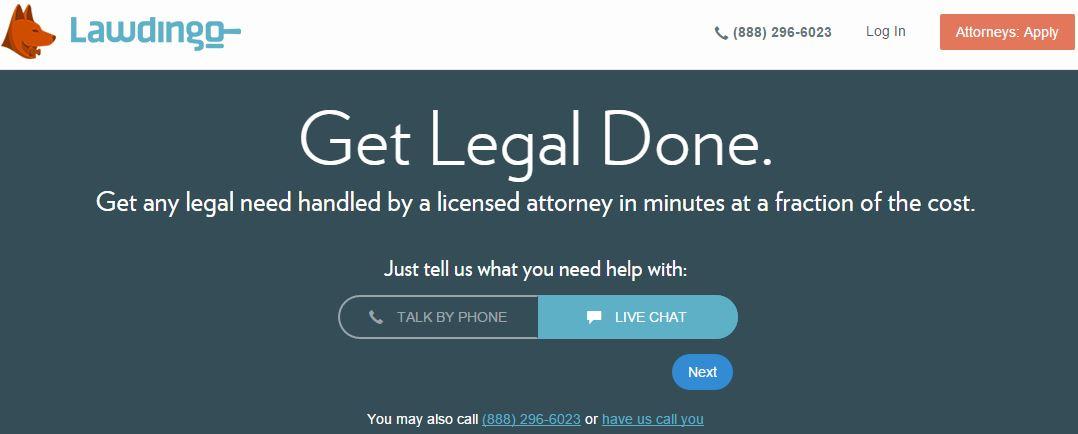 Lawdingo – Hire Virtual Lawyers For Legal Affairs Consultation