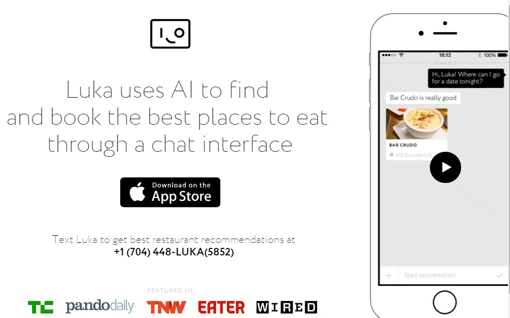 Luka – Take Restaurants and Manu Recommendations Using AI Based iPhone App