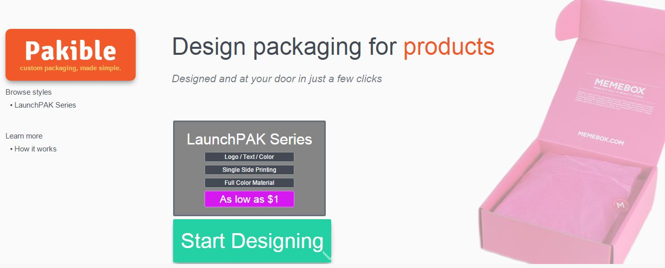 Pakible – Produce Customized Packaging Online For Your Products