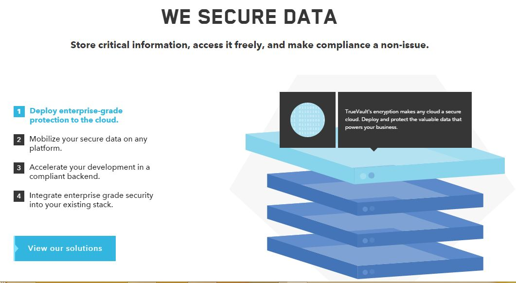 TrueVault - A HIPAA Compliant Data Storage For Healthcare Applications To Store Protected Health Information