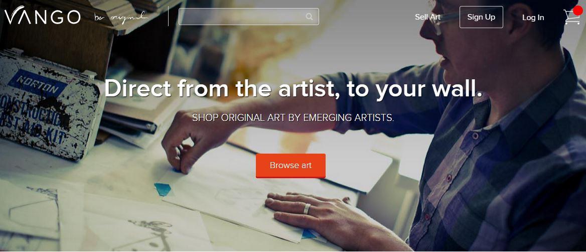 Vango – An iPone App Enabling To Buy Original Art Pieces from Professionals