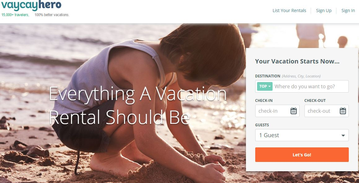 VayCayHero – A Vacations Rental Marketplace