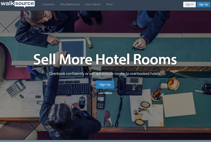 WalkSource – A B2B Marketplace For Trading Excess Hotel Demand