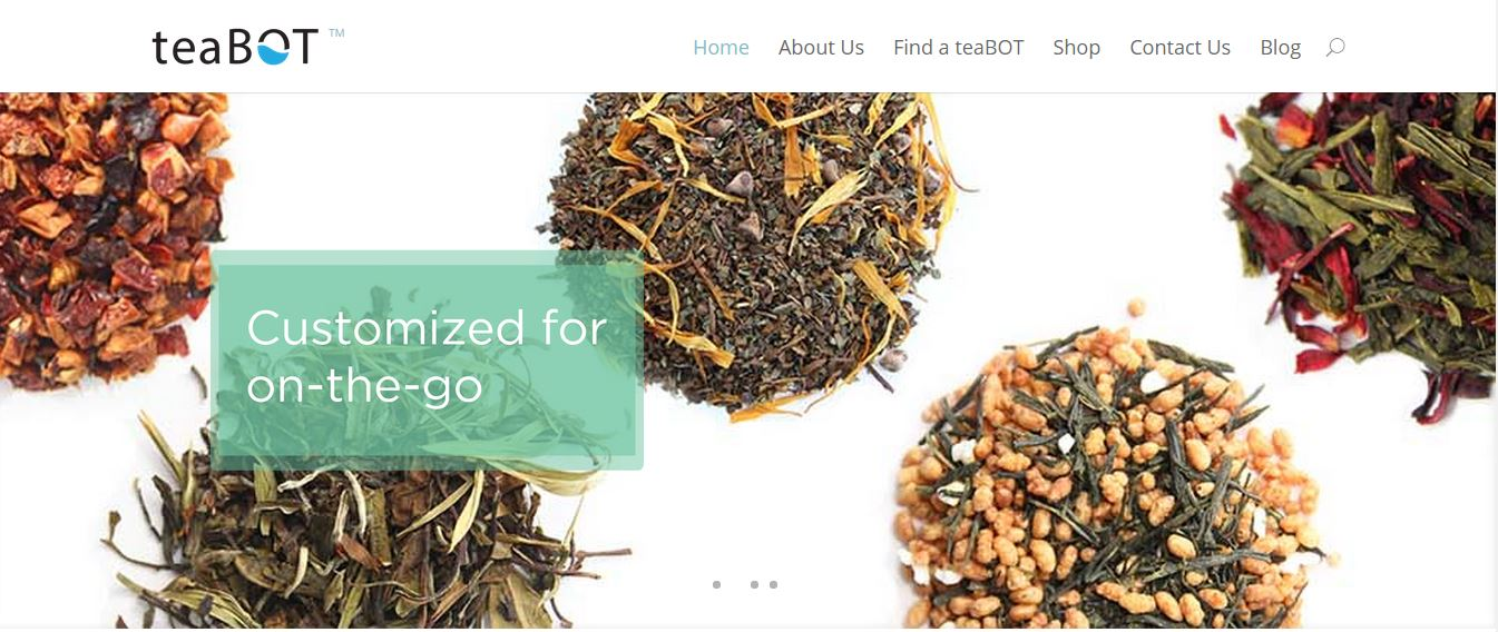 teaBot – Robot Machine Made Cup of Tea From Customized Loose Leaf Blends