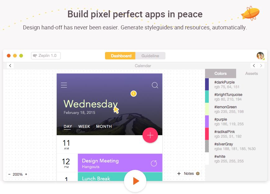 Zeplin – Collaboration App for UI Designers and Frontend Developers